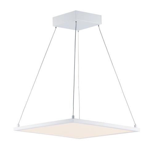 Maxim Lighting 57838 Wafer-36W 1 LED Square Pendant-15 Inches wide by 0.5 inches high