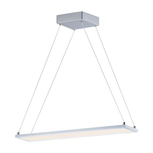 Maxim Lighting 57842WTMS Wafer-18W 1 LED Linear Pendant in Contemporary style-4.25 Inches wide by 0.5 inches high