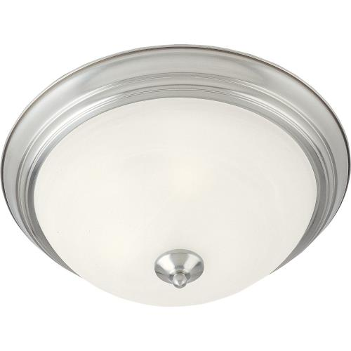 Maxim Lighting 58-1F Essentials-1 Light Flush Mount in Early American style-12 Inches wide by 4 inches high