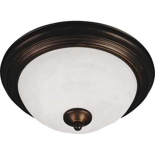 Maxim Lighting 584141MR Essentials-Two Light Flush Mount in Builder style-13.5 Inches wide by 5.5 inches high