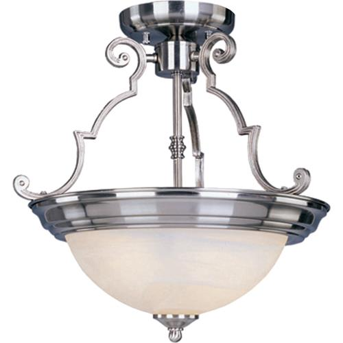Maxim Lighting 5843 Essentials-2 Light Semi-Flush Mount in Builder style-14.75 Inches wide by 14 inches high