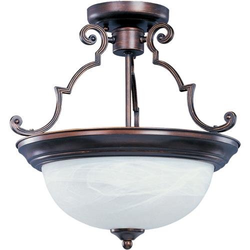 Maxim Lighting 5844 Essentials-3 Light Semi-Flush Mount in Builder style-17 Inches wide by 14 inches high