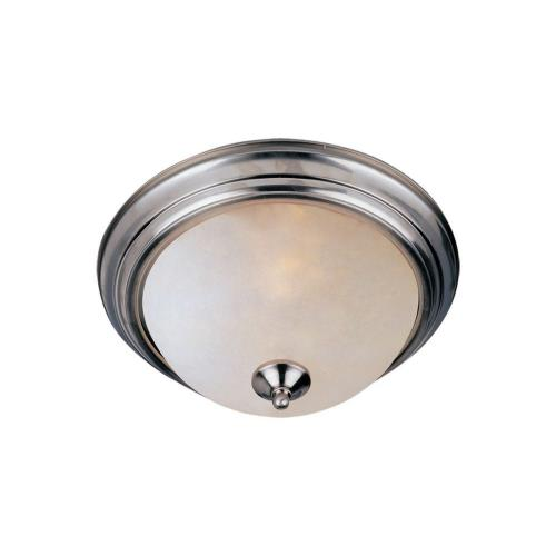Maxim Lighting 5849FTSN Essentials-Two Light Flush Mount in Builder style-11.5 Inches wide by 6 inches high