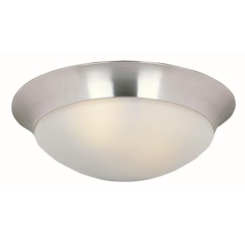 Maxim Lighting 5852FTSN Essentials-Three Light Flush Mount in Early American style-16.5 Inches wide by 5 inches high