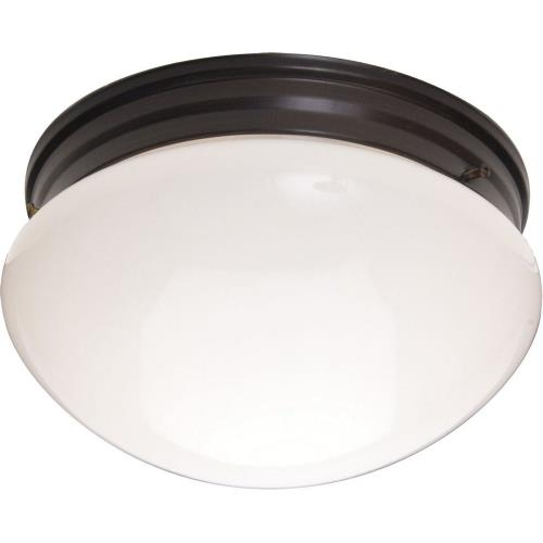 Maxim Lighting 5881WTOI Essentials-Two Light Flush Mount in Builder style-9 Inches wide by 5 inches high