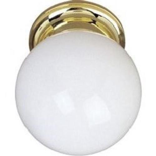 Maxim Lighting 5889WTBK Essentials - One Light Flush Mount