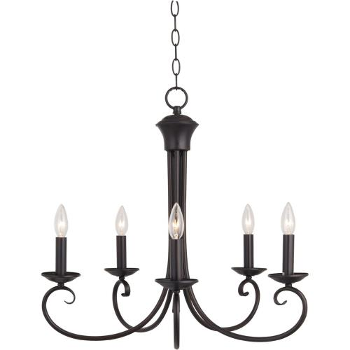 Maxim Lighting 70005OI Loft-5 Light Chandelier in Early American style-25 Inches wide by 23 inches high