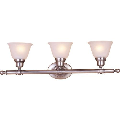 Maxim Lighting 7143 Essentials-3 Light Early American Bath Vanity in Early American style-29.5 Inches wide by 9.5 inches high