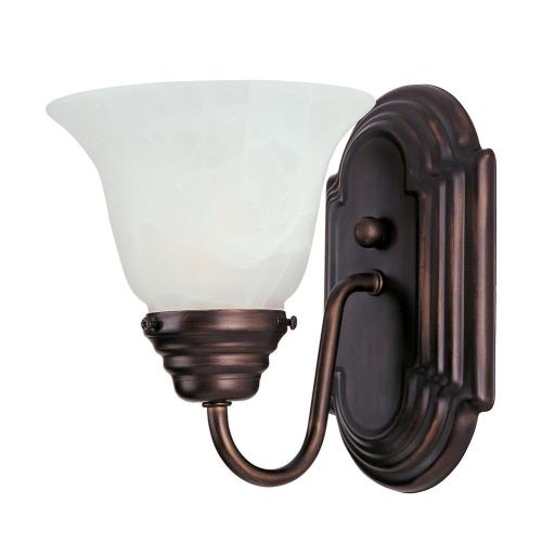 Maxim Lighting ESS-1WS Essentials-1 Light Wall Sconce in Transitional style-10.5 Inches wide by 5.5 inches high