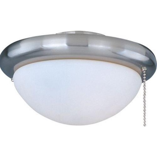 Maxim Lighting FKT206 Basic-Max-One Light Ceiling Fan Light Kit with Wattage Limiter in Builder style-7 Inches wide by 3.15 inches high