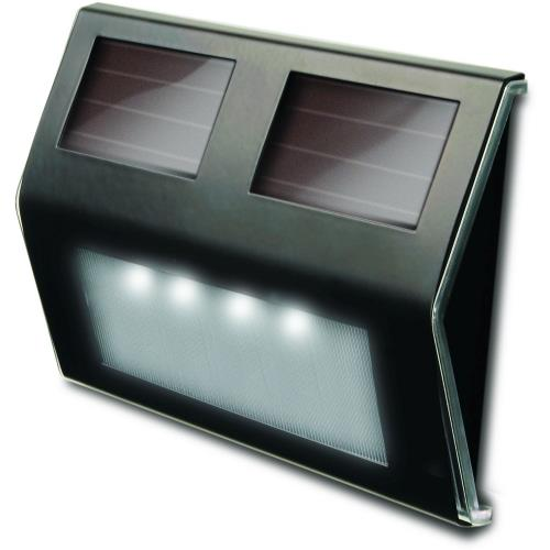 Maxsa Innovations 47334 5.56 Inch 4 LED Solar-Powered Metal Deck Light (Pack of 4)