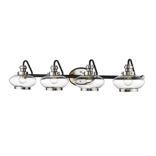 Millennium Lighting 1614-MB/SN Four Light Bath Vanity-38.5 Inches Wide by 8 Inches High