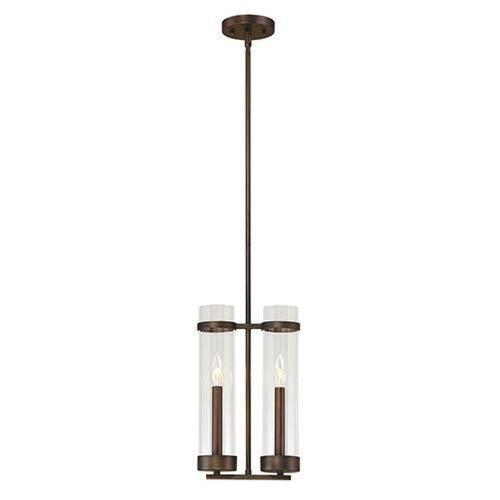 Millennium Lighting 1982 Milan-Two Light Mini Pendant-9 Inches Wide by 52.25 Inches High