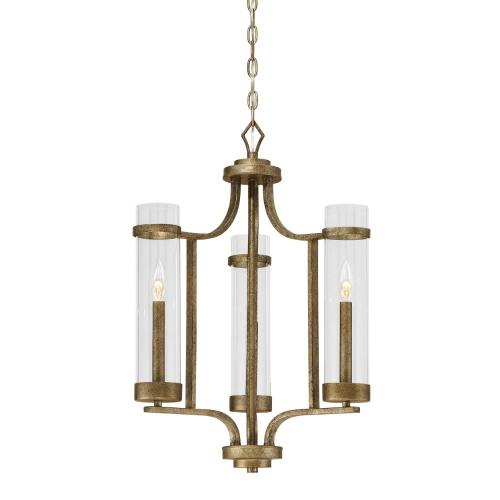 Millennium Lighting 1983 Milan Chandelier 3 Light -20 Inches Wide by 26 Inches High