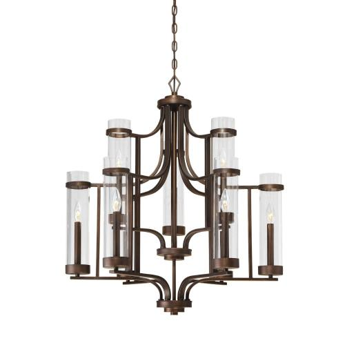 Millennium Lighting 1989-RBZ Milan-9 Light Chandelier-30 Inches Wide by 33 Inches High