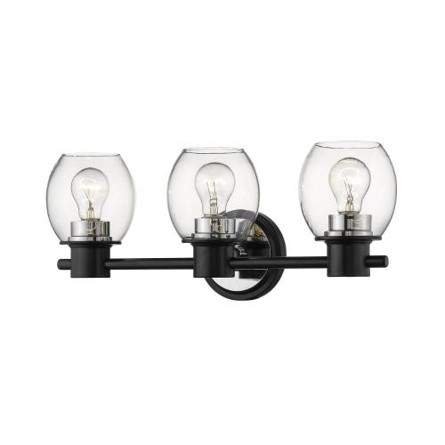 Millennium Lighting 3553-MB/PN Three Light Bath Vanity-20 Inches Wide by 7.5 Inches High