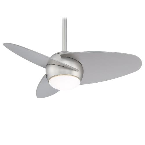 Minka Aire Fans F410L Slant - Ceiling Fan with Light Kit in Transitional Style - 16 inches tall by 36 inches wide