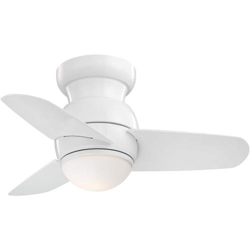 Minka Aire Fans F510L Spacesaver - Ceiling Fan with Light Kit in Traditional Style - 11 inches tall by 26 inches wide