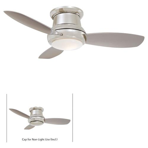 Minka Aire Fans F518L-PN Concept Ii - Ceiling Fan with Light Kit in Traditional Style - 11.5 inches tall by 44 inches wide