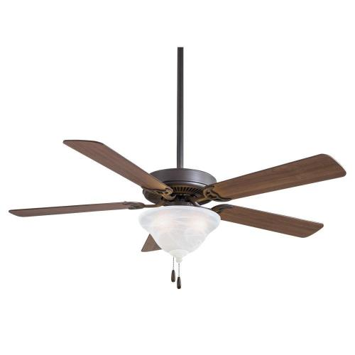 Minka Aire Fans F548L Contractor Uni - Ceiling Fan with Light Kit in Traditional Style - 18.75 inches tall by 52 inches wide