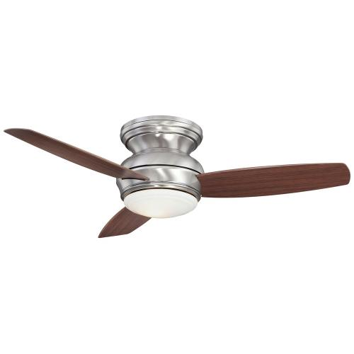 Minka Aire Fans F593L-PW Concept - Ceiling Fan with Light Kit in Traditional Style - 11 inches tall by 44 inches wide
