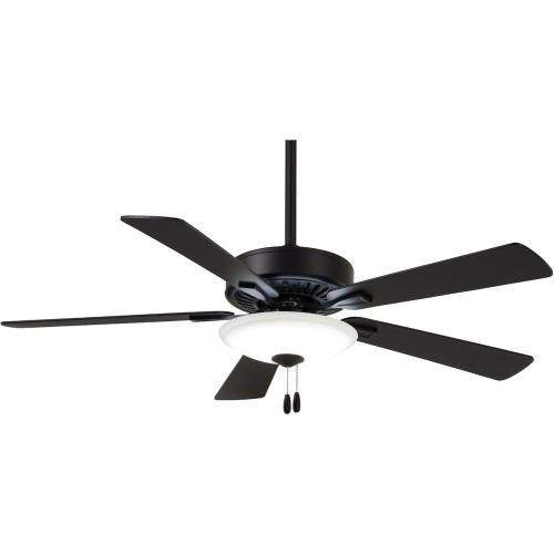 Minka Aire Fans F656L-CL Contractor Uni - Ceiling Fan with Light Kit in Traditional Style - 17.5 inches tall by 52 inches wide