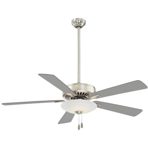 Minka Aire Fans F656L-PN Contractor Uni - Ceiling Fan with Light Kit in Traditional Style - 17.5 inches tall by 52 inches wide