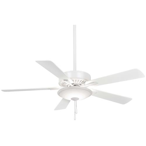 Minka Aire Fans F656L Contractor Uni - Ceiling Fan with Light Kit in Traditional Style - 17.5 inches tall by 52 inches wide