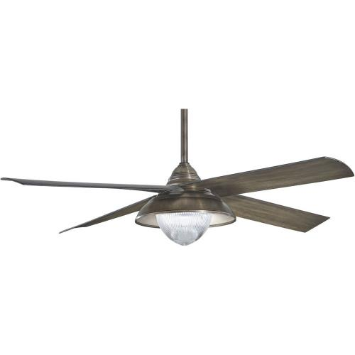 Minka Aire Fans F683L Shade - Ceiling Fan with Light Kit in Transitional Style - 17.5 inches tall by 56 inches wide