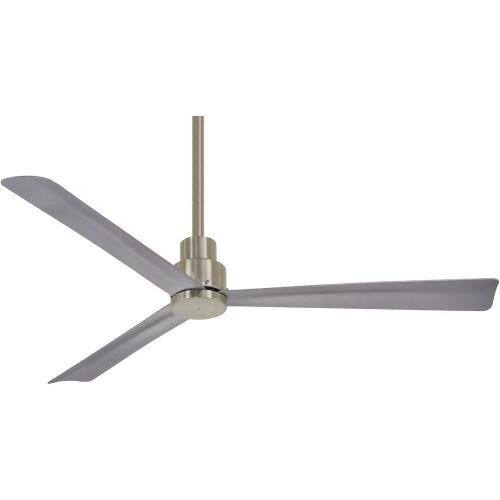 Minka Aire Fans F787-BNW Simple - Outdoor Ceiling Fan in Transitional Style - 12.75 inches tall by 52 inches wide