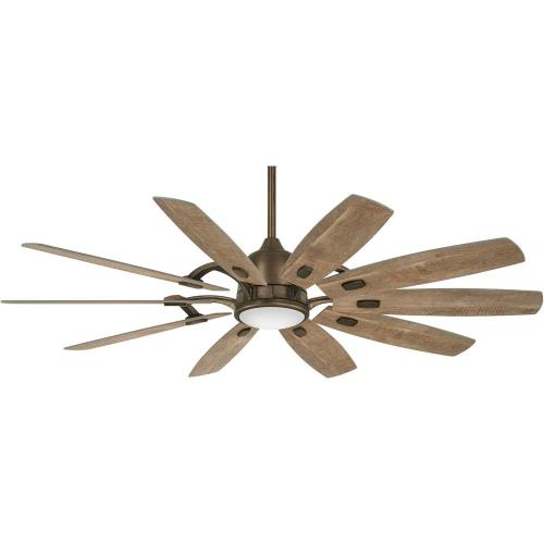 Minka Aire Fans F864L Barn - Smart Ceiling Fan with Light Kit in Contemporary Style - 21.5 inches tall by 65 inches wide