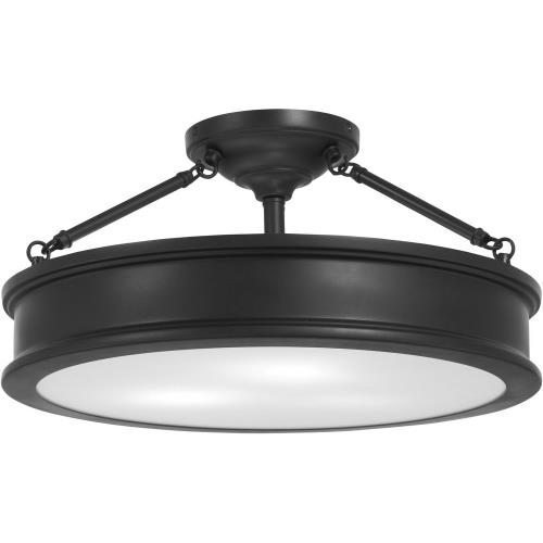 Minka Lavery 4177 Harbour Point - 3 Light Semi-Flush Mount in Transitional Style - 9.75 inches tall by 19 inches wide