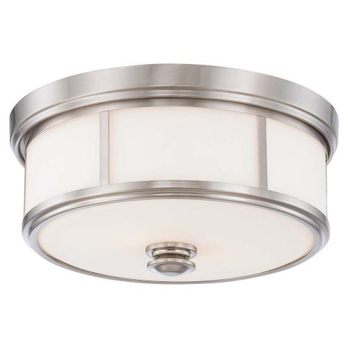 Minka Lavery 4365 Harbour Point - 2 Light Flush Mount in Transitional Style - 6.5 inches tall by 13.5 inches wide