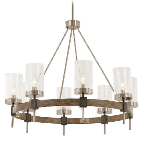 Minka Lavery 4638-106 Bridlewood Chandelier 8 Light Stone Grey/Brushed Nickel