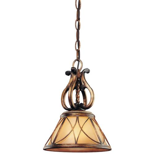 Minka Lavery 4751-206 Aston Court - 1 Light Mini Pendant in Traditional Style - 13.5 inches tall by 10 inches wide
