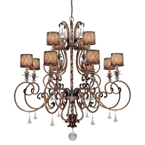 Minka Lavery 4758-206 Aston Court - Chandelier 12 Light Aston Court Bronze in Traditional Style - 55.75 inches tall by 51.5 inches wide
