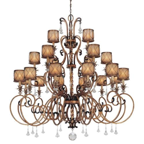 Minka Lavery 4759-206 Aston Court - Chandelier 21 Light Aston Court Bronze in Traditional Style - 59.75 inches tall by 59 inches wide