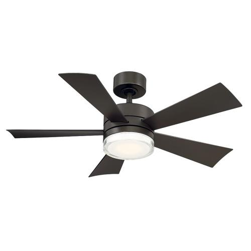 Modern Forms Fans FR-W1801-42L Wynd - 42 Inch 5 Blade Ceiling Fan with LED Light Kit and Wall Control