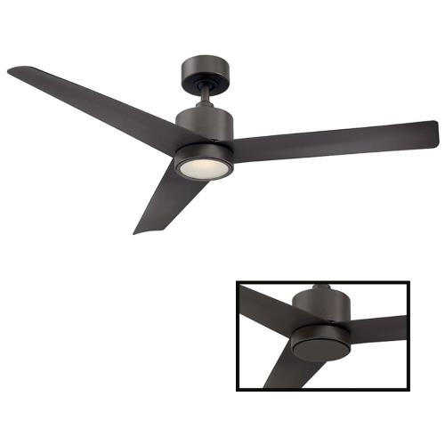 Modern Forms Fans FR-W1809-54L Lotus - 54 Inch 3-Blade Ceiling Fan with Light Kit and Remote Control