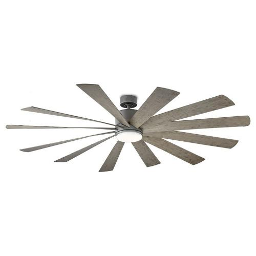 Modern Forms Fans FR-W1815-80L Windflower - 80 Inch 12 Blade Ceiling Fan with LED Light Kit and Wall Control