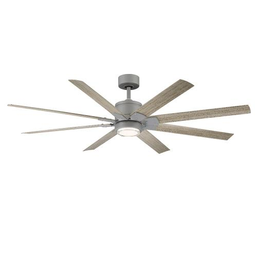Modern Forms Fans FR-W2001-66L Renegade - 66 Inch 8-Blade Ceiling Fan with Light Kit and Remote Control