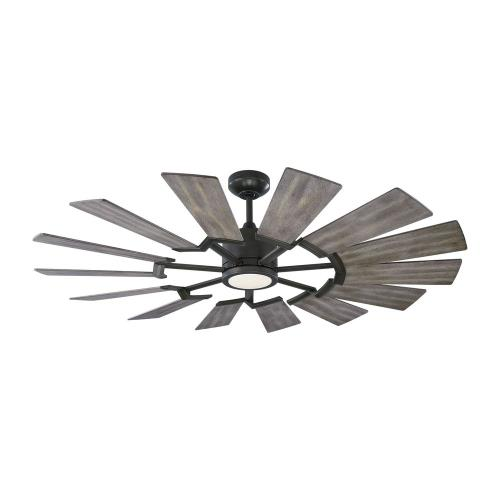 Monte Carlo Fans 14PRR52 Prairie 52 - 14 Blade 52 Inch Ceiling Fan with Handheld Control and Includes Light Kit in Style - 52 Inches Wide by 14.13 Inches High