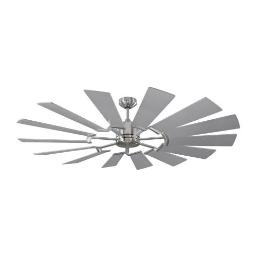 Monte Carlo Fans 14PRR62BSD Prairie 62 - 14 Blade Ceiling Fan with Handheld Control and Includes Light Kit - 62 Inches Wide by 14.13 Inches High