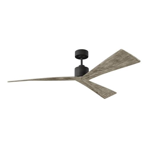Monte Carlo Fans 3ADR60 Adler - 3 Blade Ceiling Fan in Modern Style - 60 Inches Wide by 12.5 Inches High