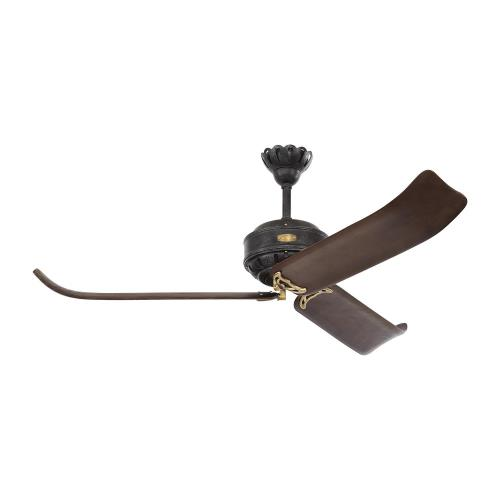 Monte Carlo Fans 3CPR60ATIHAB Cupra - Ceiling Fan in Traditional Style - 60 Inches Wide by 19 Inches High