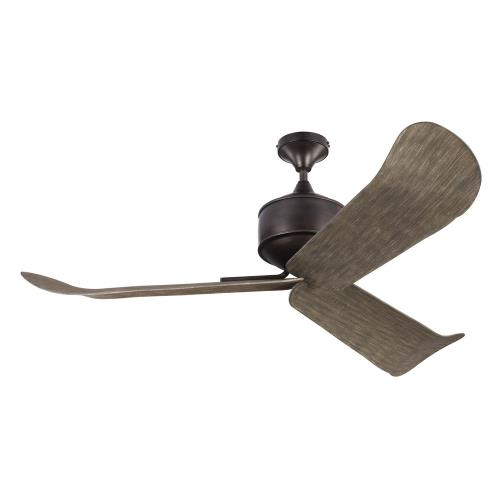 Monte Carlo Fans 3DYLAN Dylan - 3 Blade Ceiling Fan with Handheld Control in Outdoor Style - 56 Inches Wide by 16.5 Inches High