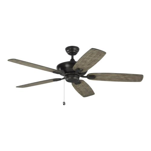 Monte Carlo Fans 5COM52AGP Colony Max - 5 Blade Ceiling Fan with Pull Chain Control in Transitional Style - 52 Inches Wide by 12.8 Inches High