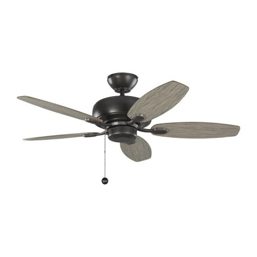 Monte Carlo Fans 5CQM44AGP Centro Max II - 5 Blade Ceiling Fan with Pull Chain Control in Transitional Style - 44 Inches Wide by 13.08 Inches High
