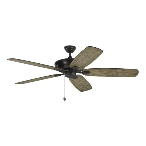 Monte Carlo Fans 5CSM60AGP Colony Super Max 5 Blade 60 Inch Ceiling Fan with Pull Chain Control