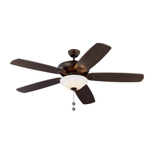 Monte Carlo Fans 5CSM60D-V1 Colony Super Max 5 Blade 60 Inch Ceiling Fan with Pull Chain Control and Includes Light Kit